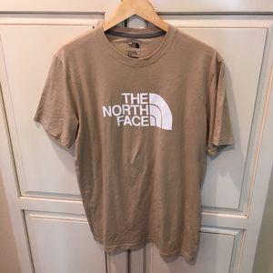 The north face tan tee shirt m